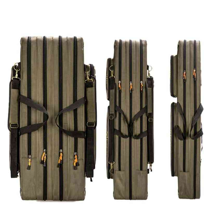 Thick Oxford Foldable Fishing Rod Fishing Pole Tools Storage Bag