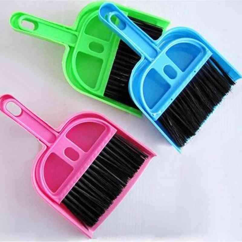 Mini Desktop Sweep Cleaning Brush- Table Broom, Hanging Desk, Dustpan Set