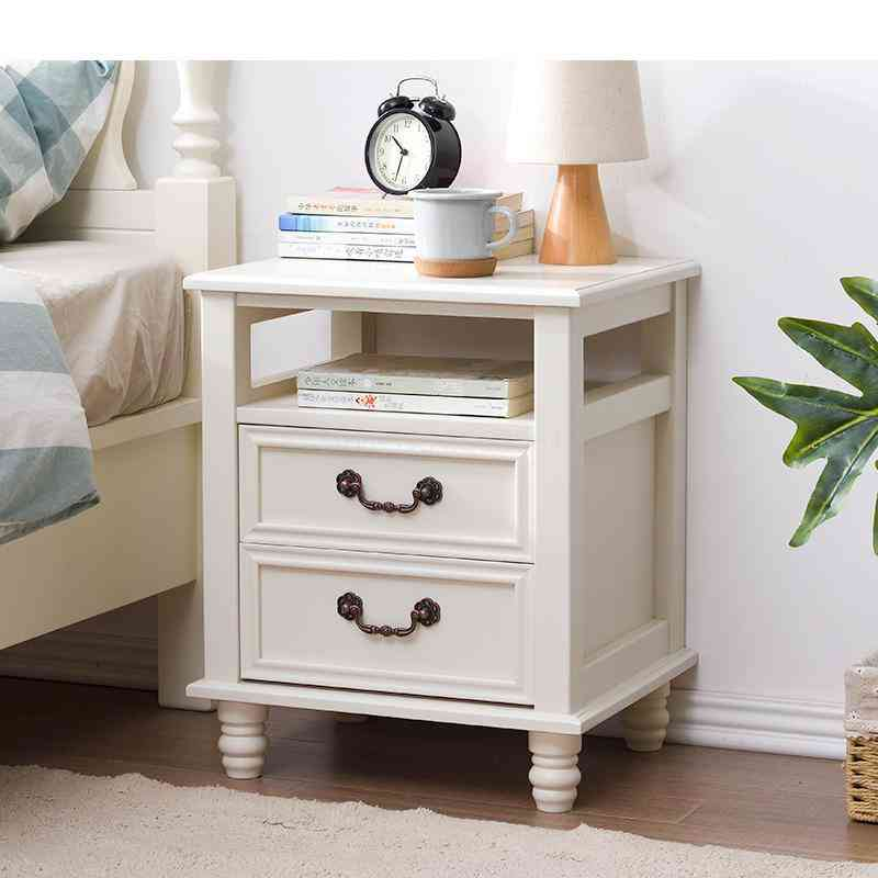 Solid Wood European And American Bedside Cabinet