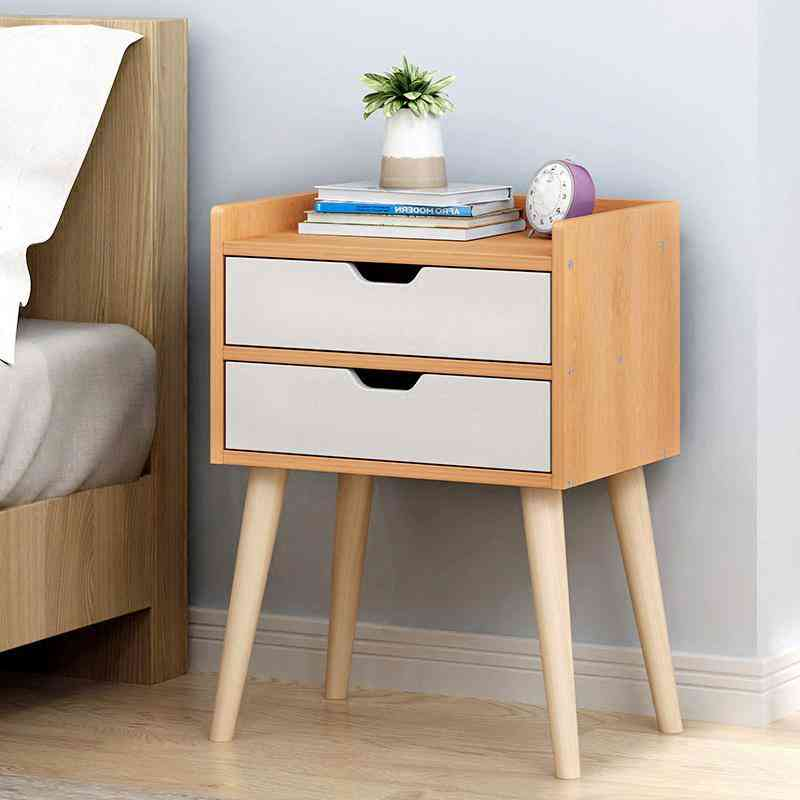 Nordic Bedside Table Solid Wood Small Cabinet