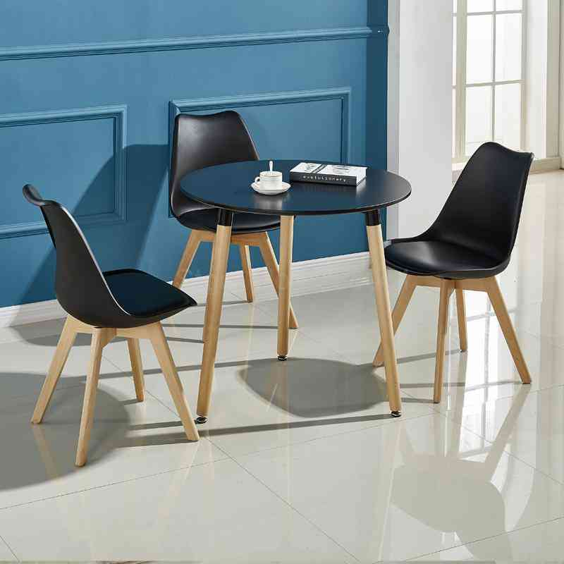 Home Balcony Nordic Small Round  Reception Table And Chairs