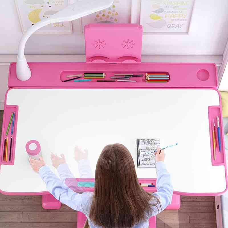 Children Desk Study Table And Chair Set Kids Ergonomic Desk Height Adjustable Writing Desk Chair Drawing Table