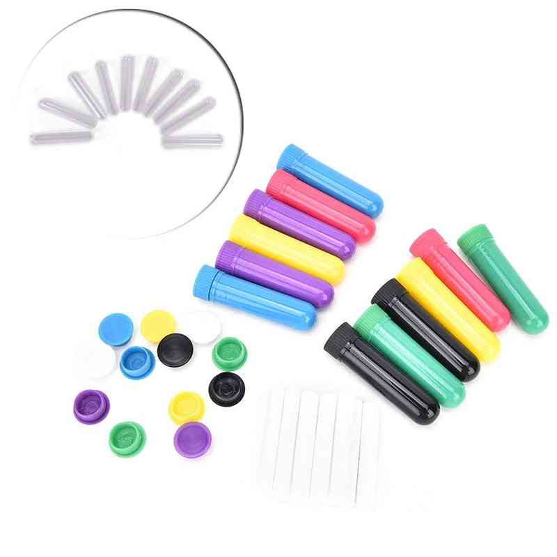 Nasal Containers Aromatherapy Inhalers Tubes Sticks With Wicks