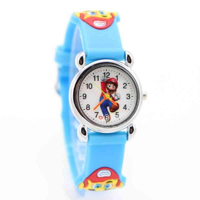 3d Cartoon Anime Super Mario Doll Watch Wristwatch