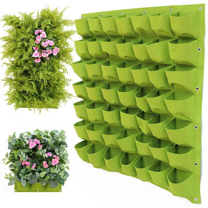 Garden Wall Hanging Planting Bags, Green Plant, Grow Vertical Vegetable