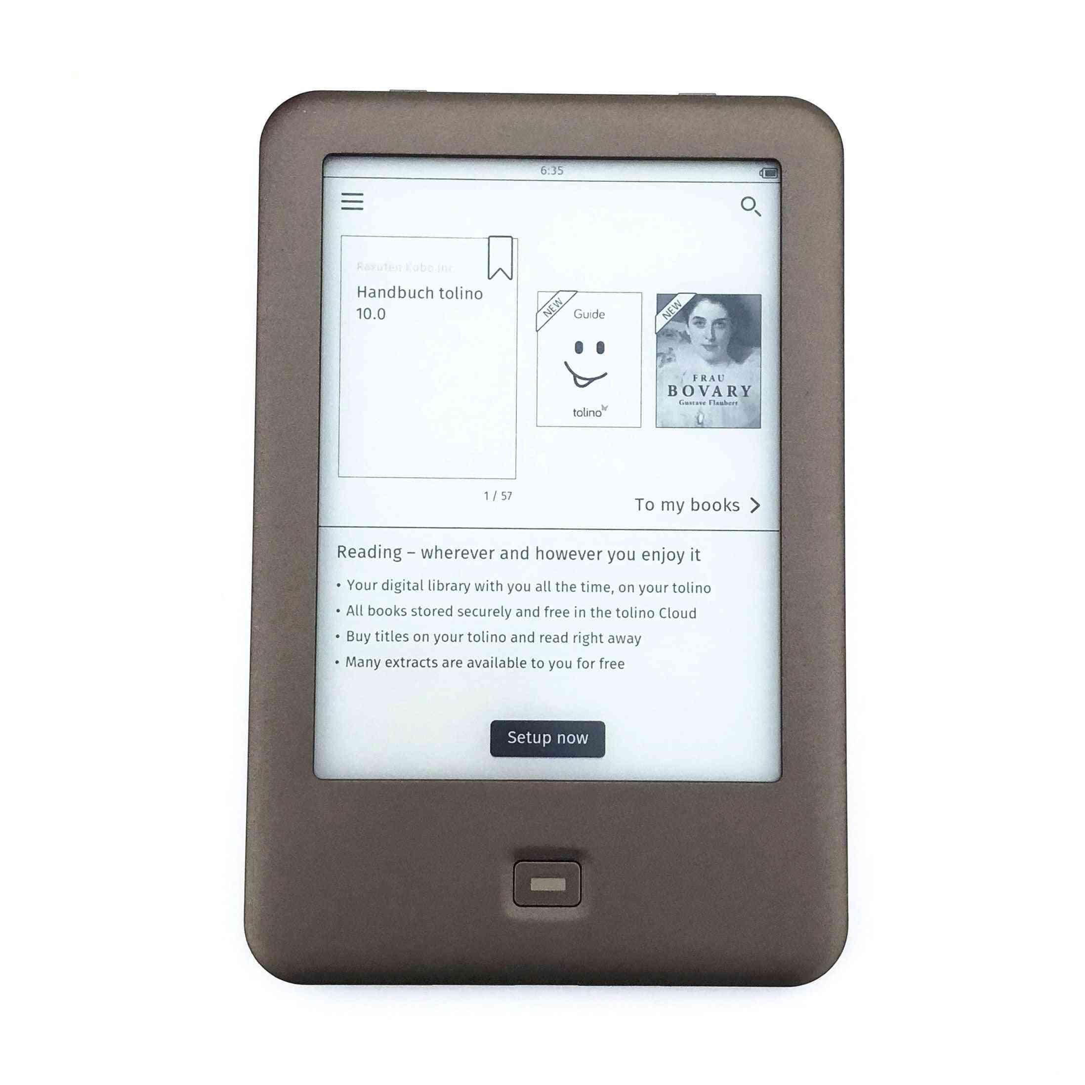 Electronic Book E-ink E Ebook Reader Built
