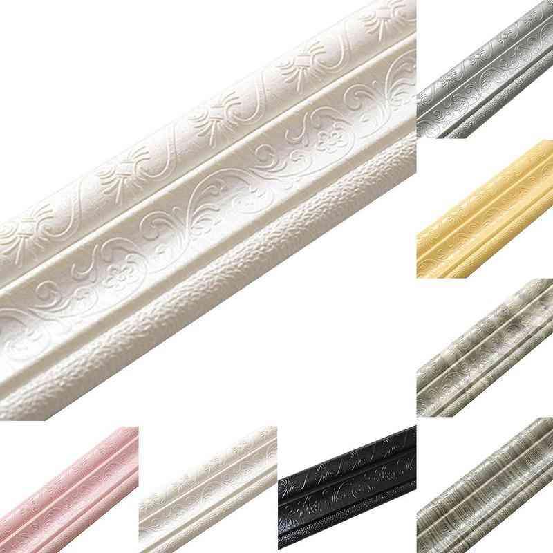 Tv Background Border, Self-adhesive, Wall Stickers, Skirting Waist Line Sticker, Wallpaper, Decorative Strip, Ceiling Soft Line
