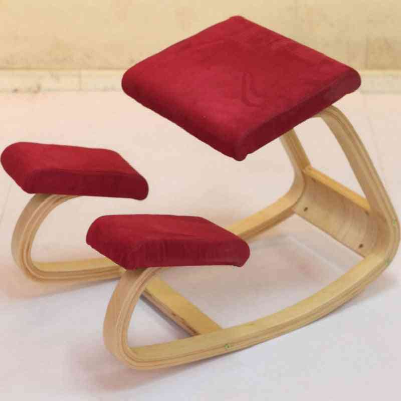 Anti-myopia Wooden Kneeling Computer Posture Chair Design Correct Posture