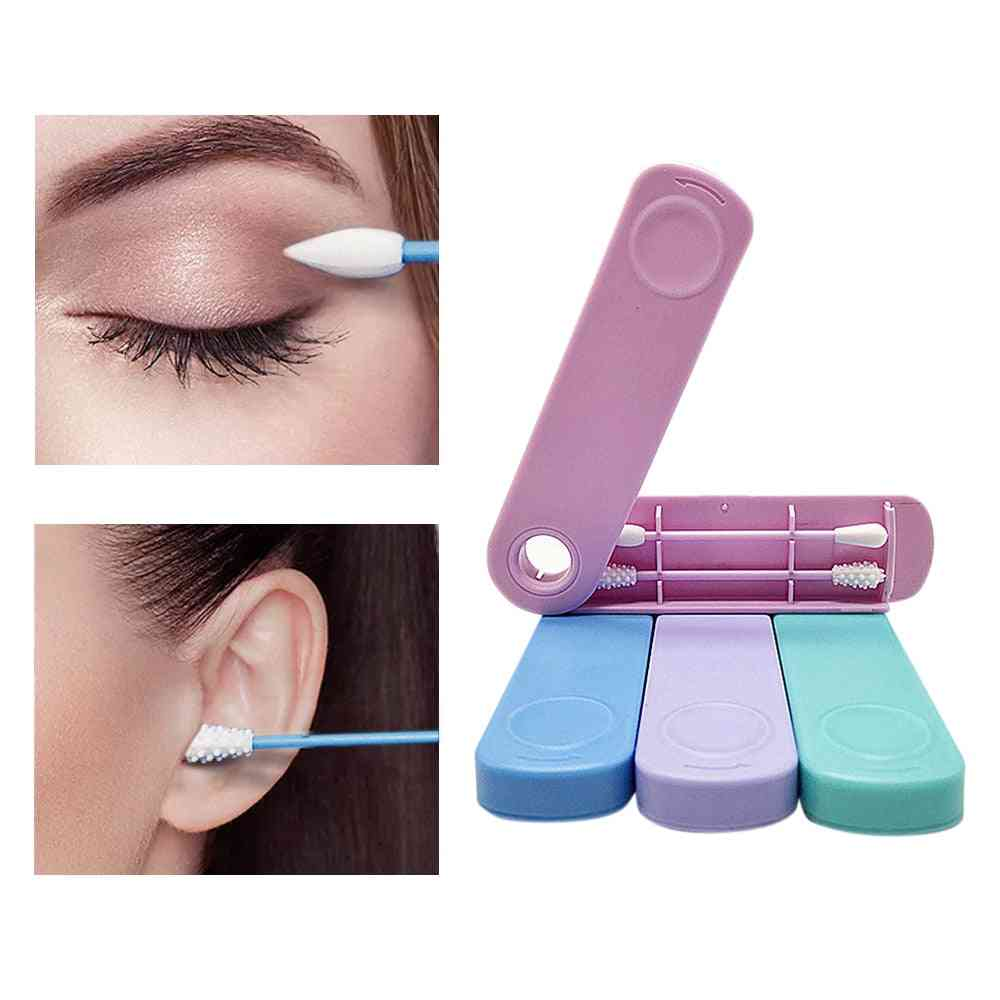 Reusable Cotton Swab, Double-headed Face Ear Cleaning/cosmetic Removal Tool