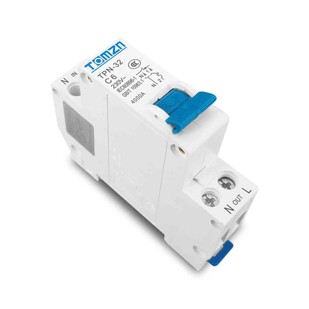 Mini Circuit Breaker Mcb 6a 10a 32a Din Rail Mounting Miniature Household Air Switch