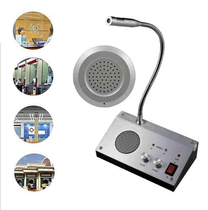 Walkie Dual Channel Talkie Intercom External Speaker System, Bank Office Hospital