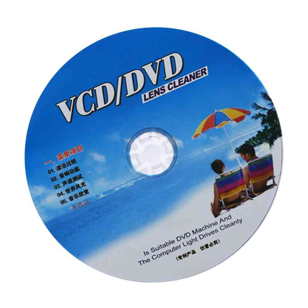 Cd Vcd Dvd Player Lens Cleaner Dust Dirt Removal Cleaning Fluids Disc Restore Kit (1)