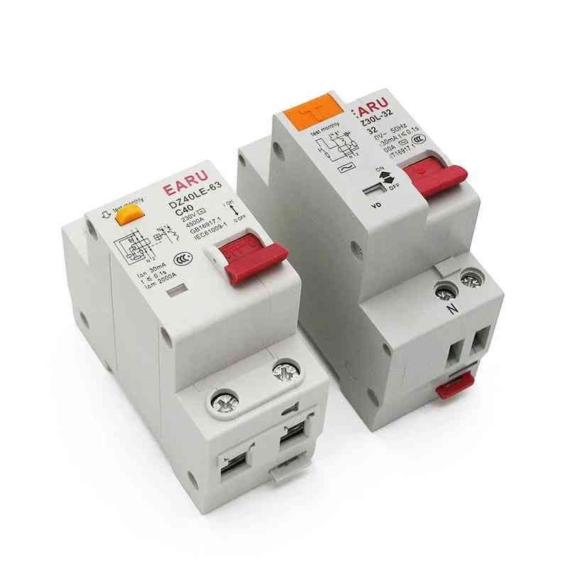 230v 1p+n Residual Current Circuit Breaker With Over And Short Current Leakage Protection