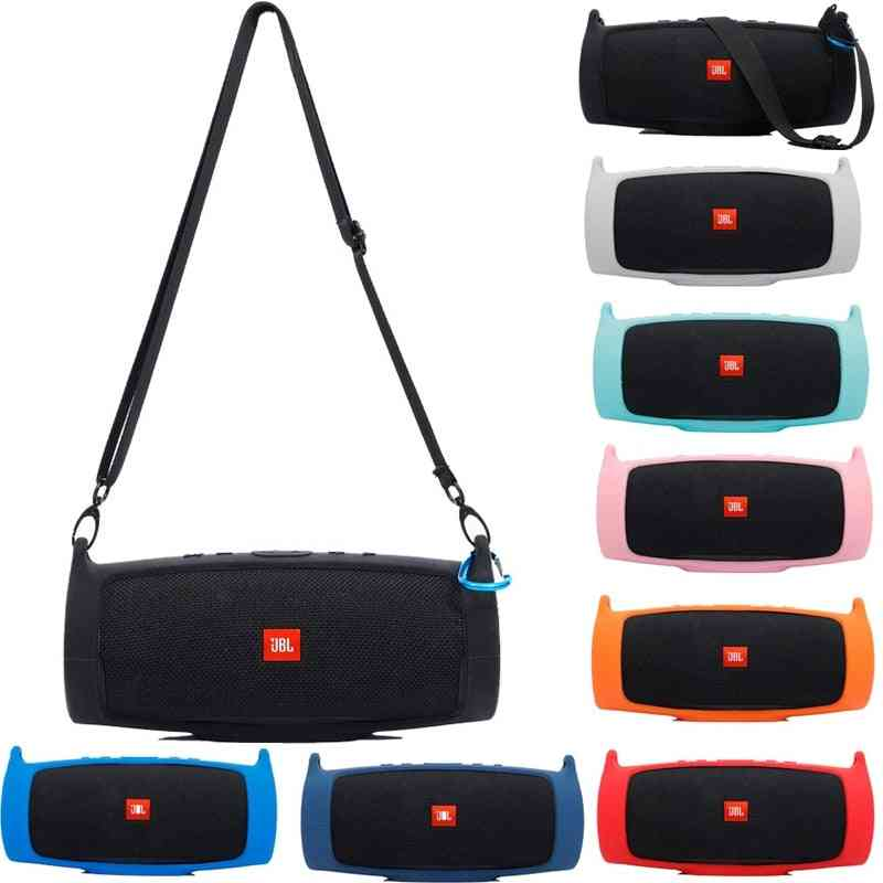 Outdoor Travel Silicone Case Cover Skin With Strap Carabiner For Jbl Charge