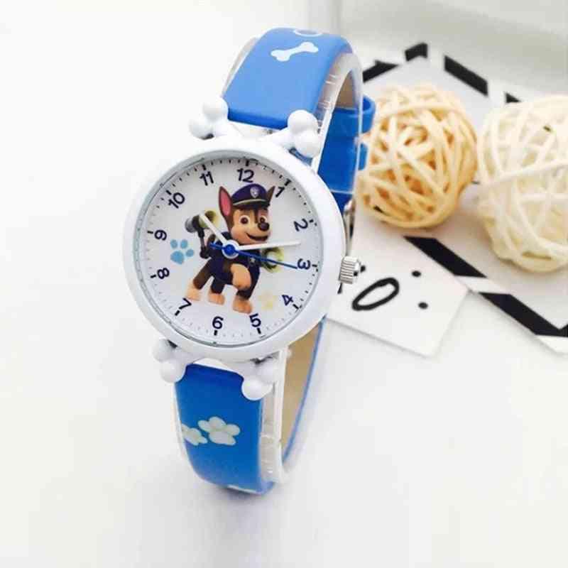 Cartoon Figure's Electronic Waterproof Watch Leather Strap