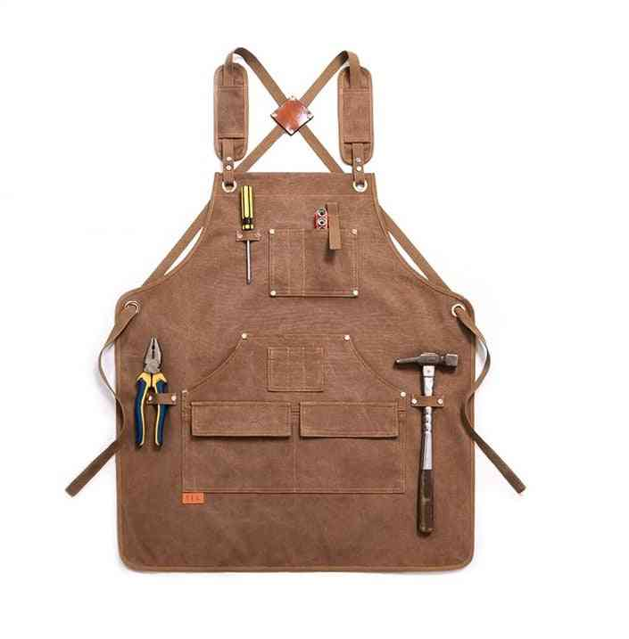 Durable Goods Heavy Duty Unisex Canvas Work Apron With Tool Pocket