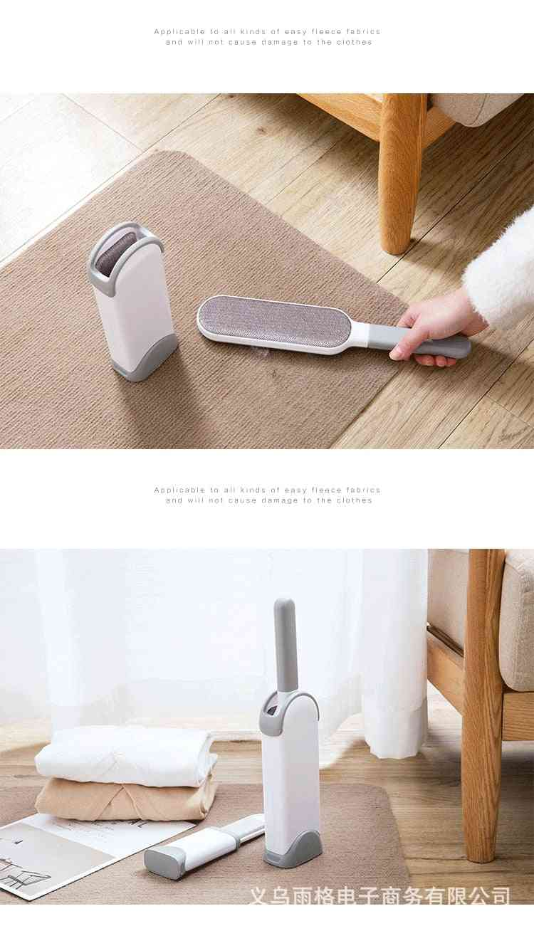 Portable Clothes Hair Remover Household Electrostatic Double-sided Hand-held Retractable Device