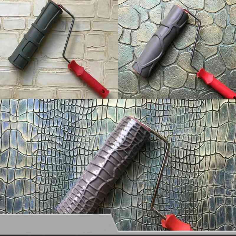 Pattern Paint Roller 10 Inch Environmental Protection Stamp Decorative Cylinder