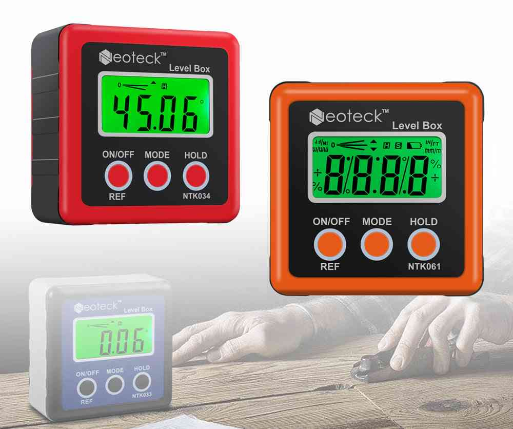 Proster Precision Digital Level Box, Measurment Tool, Angle Gaug, Lcd Protractor, Magnetic Base Inclinometer Test Tool