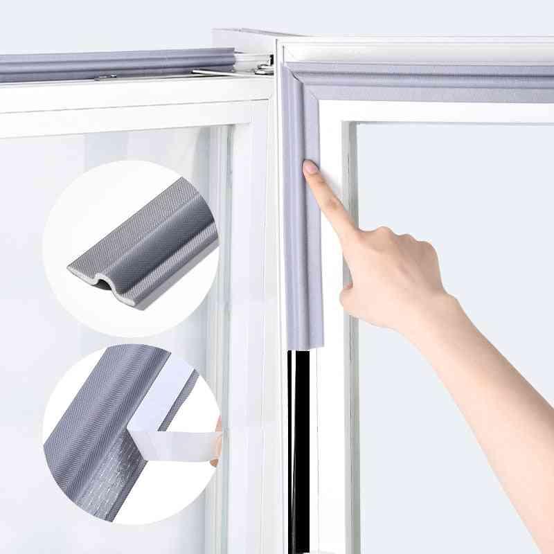 Self Window Seal Strip Soundproof, Windproof Nylon Cloth Foam Door Rubber