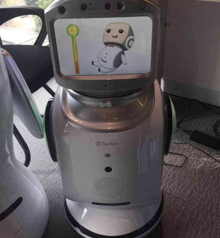 Smart Commercial House Security Robot Program Dialogue Voice Video Chat Monitoring Accompanying