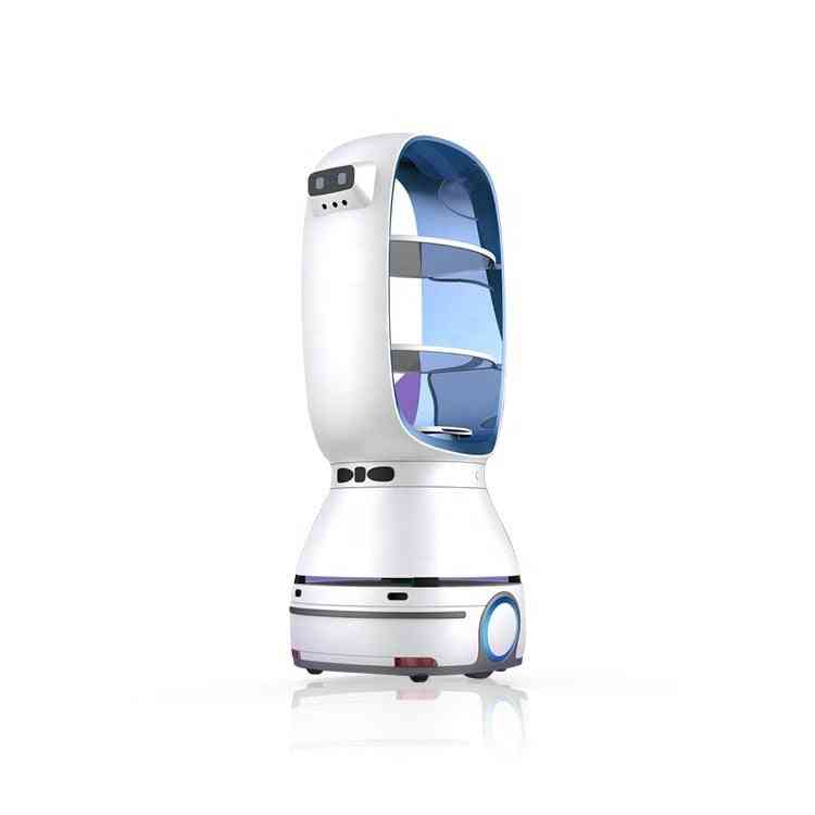 9660-13800 Usd T1 Food Delivery Robot Auto-charge For Restaurant Hospital Hotel (blue)