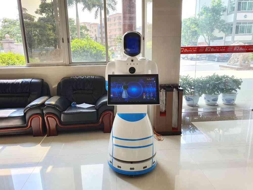 Police Hotel School Library Exhibition Show Security Guard Robot Facial Recognition Reception Voice Guide