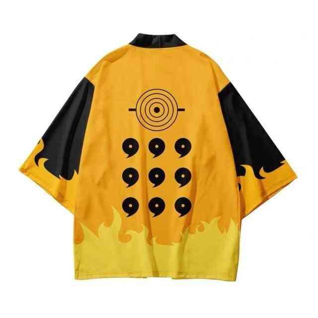 3d Printing Japanese Women/men Fashion Summer Casual Short Sleeve Streetwear Jacket