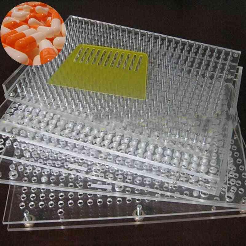 Capsule Filling Plate, Packaging Machine, Manual Filler + Tamping Tool