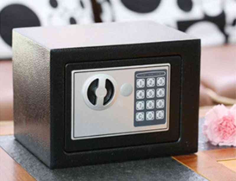 Safe Box Small Household Mini Steel Safes Password / Key Security Box