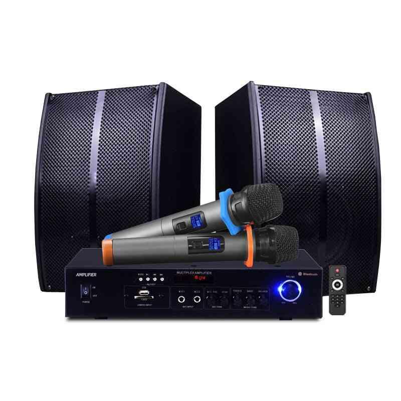 Home Karaoke Speaker Bluetooth Amplifier Singing +2 Wireless Mic Tv Set