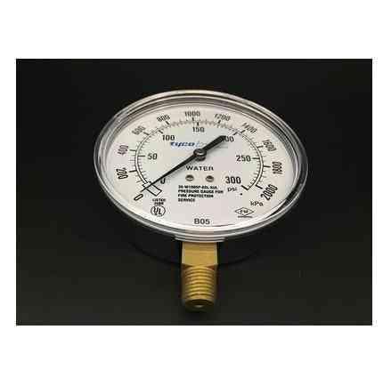 Fire Control Pressure Gauge Meter
