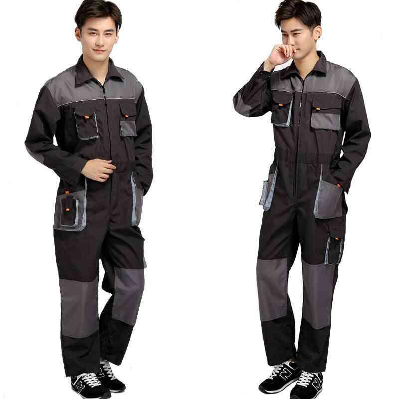 Overalls Men Work Coveralls Protective Repairman Strap Jumpsuits Pants Working Uniforms