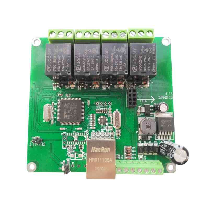 Modbus/domoticz/ethernet/rs485/can/wifi/web Server/tcp/udp 4 Channel Delay Switch Relay Board