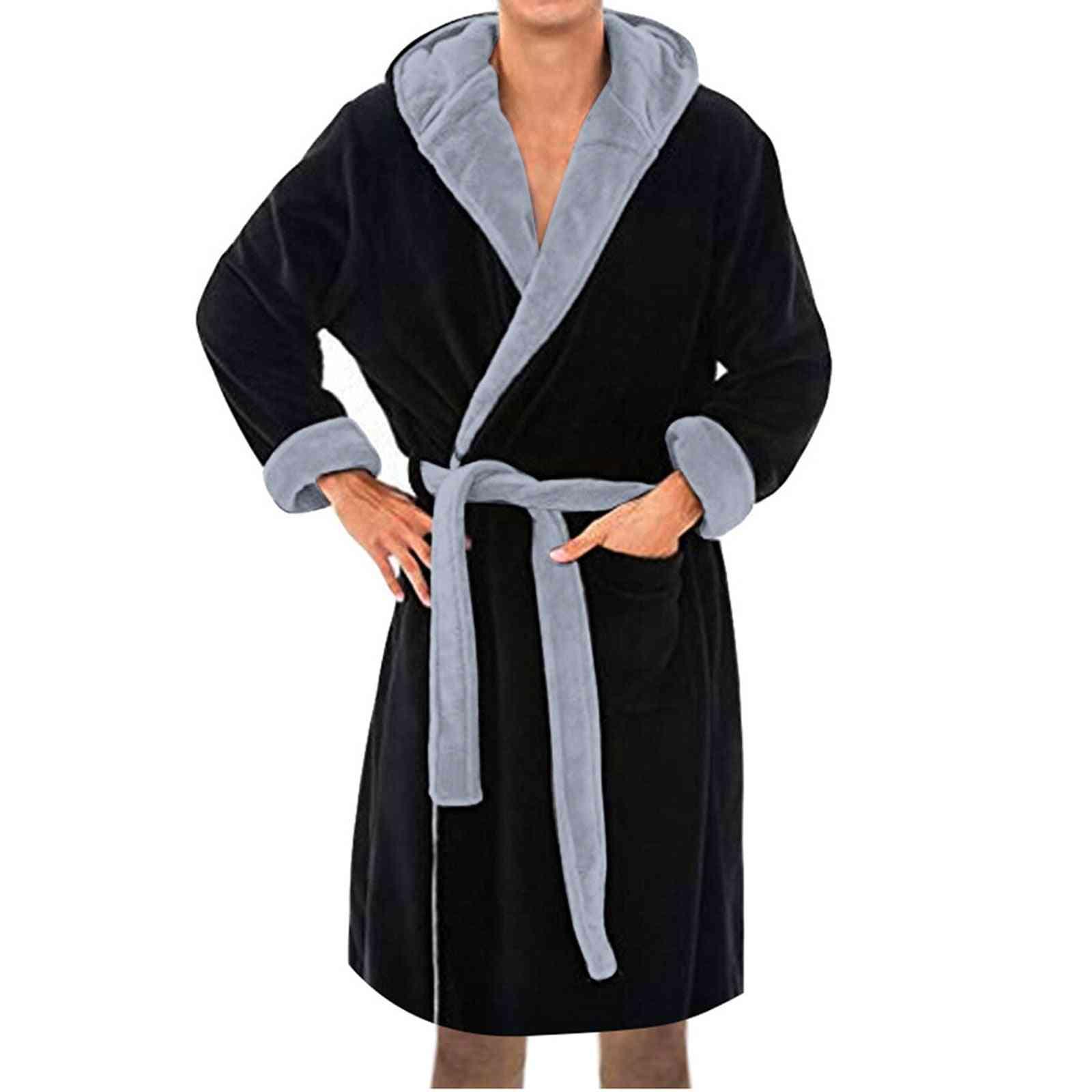 Bathrobe Winter Plush Lengthened Shawl Home Clothes Long Sleeved Coat Peignoir Femme