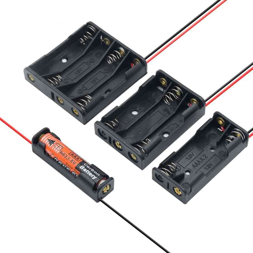 Battery Box Case Holder With Wire Leads