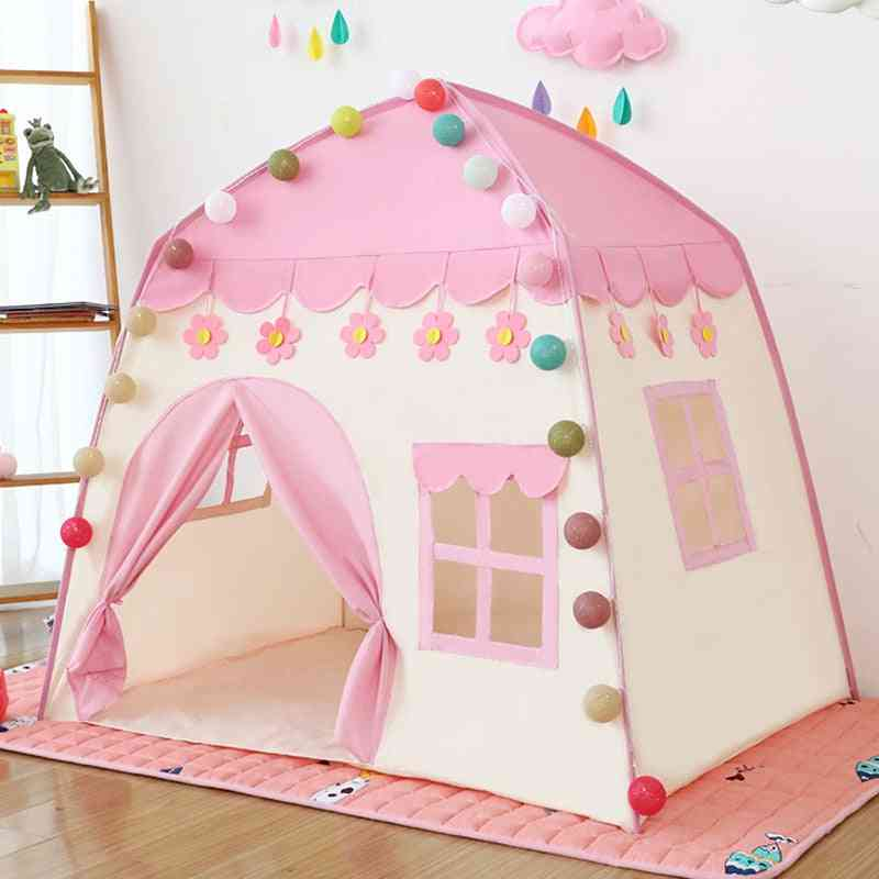 Kids Toy Tent, Indoor Princess Teepee Bed, Folding Play House