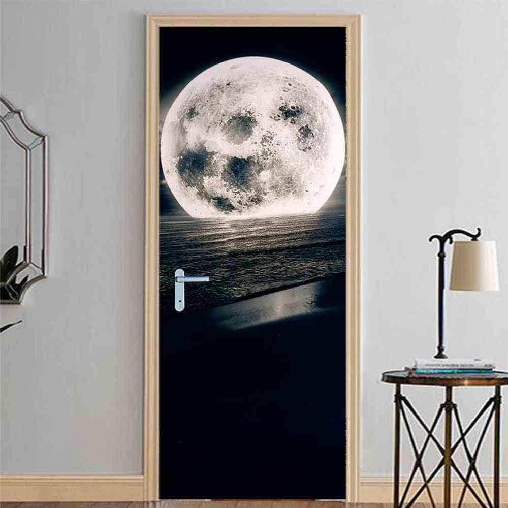 3d Wallpaper, Modern Design Self-adhesive Waterproof Door Sticker