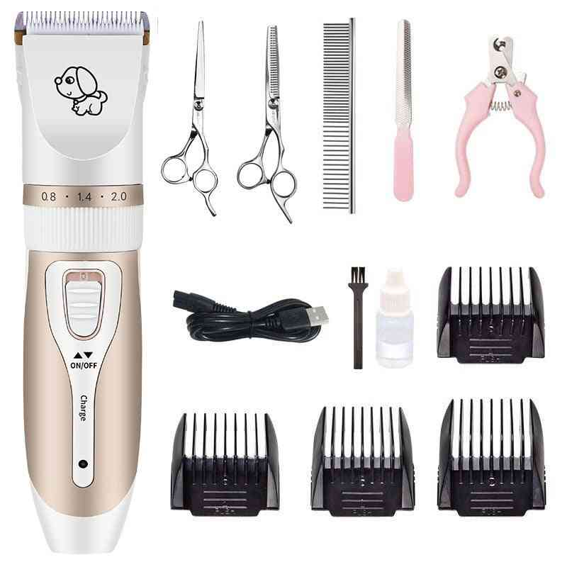 Dog Hair Clippers Grooming Haircut Trimmer Shaver Set