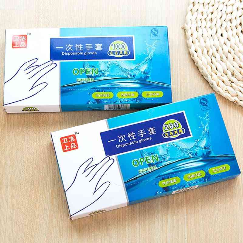Pe Film Disposable Transparent Plastic Gloves For Washing Dishes