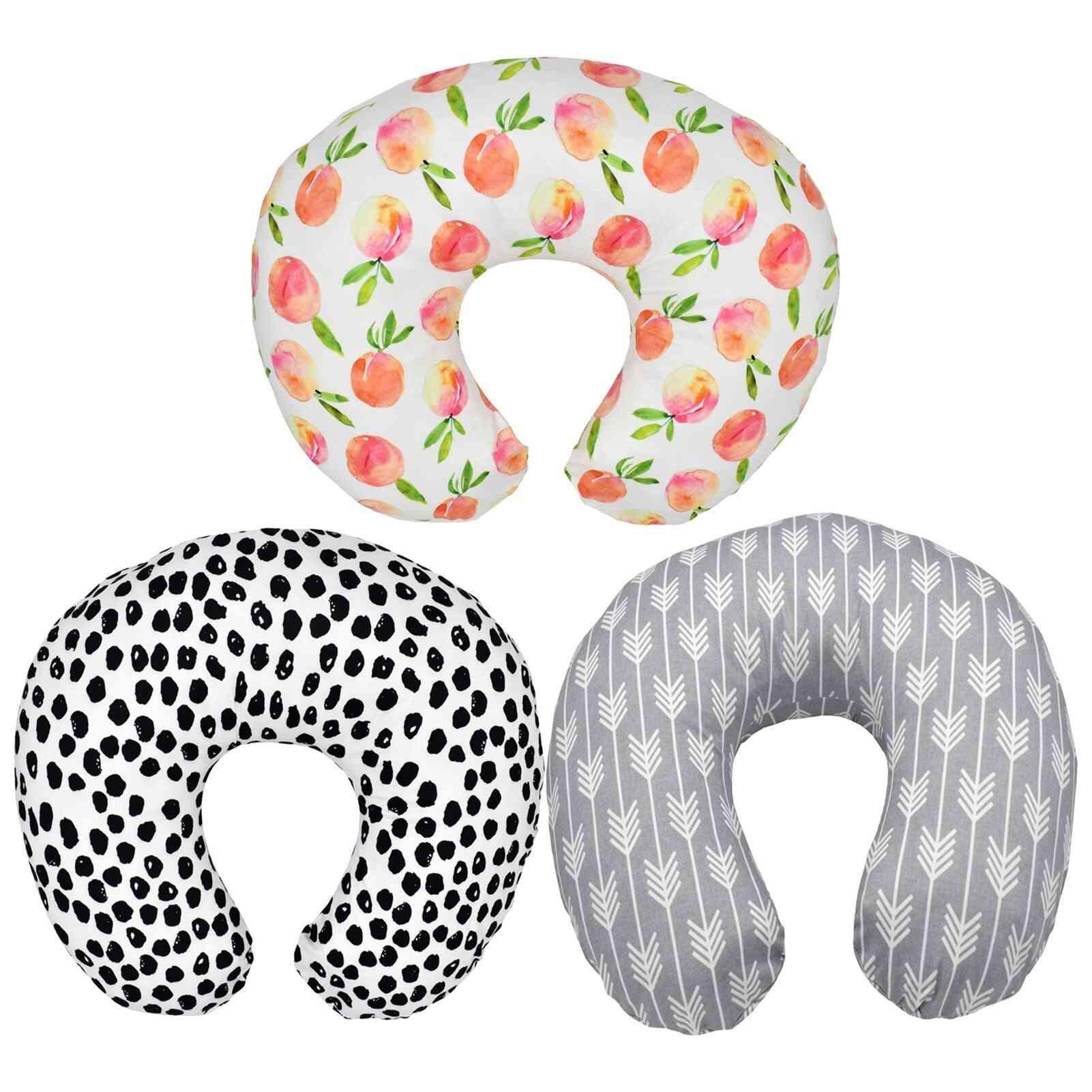 Baby U Shape Nursing Pillow Pillowcase Multifunctional Detachable Printing Lactation Removable