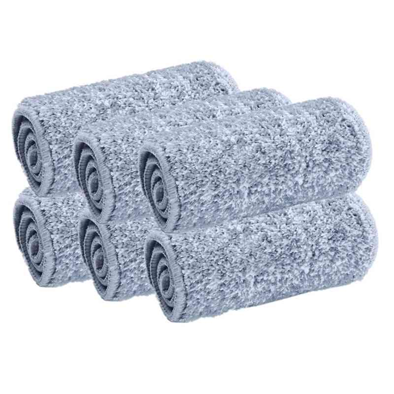 Microfiber Mop Cloth, Kitchen Floor Cleaning, Flat, Squeeze, Replacement Pads, Household Tools