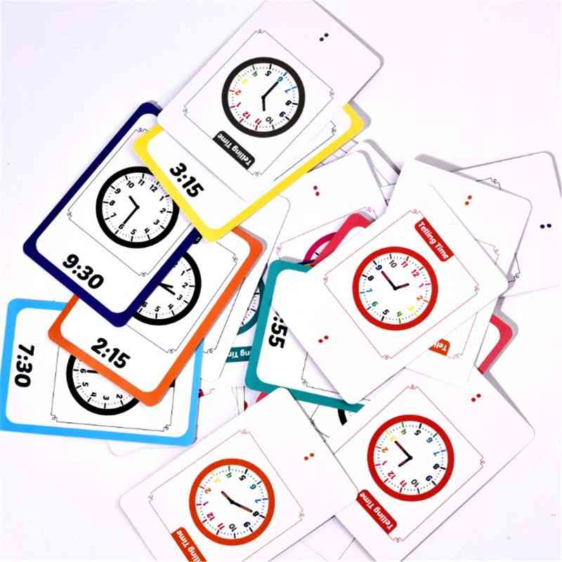 Telling Time Flash Cards For