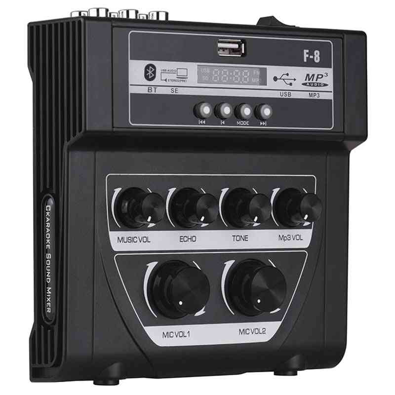 Household O Mixer Sound Mini Karaoke Microphone Stereo Echo Mixer