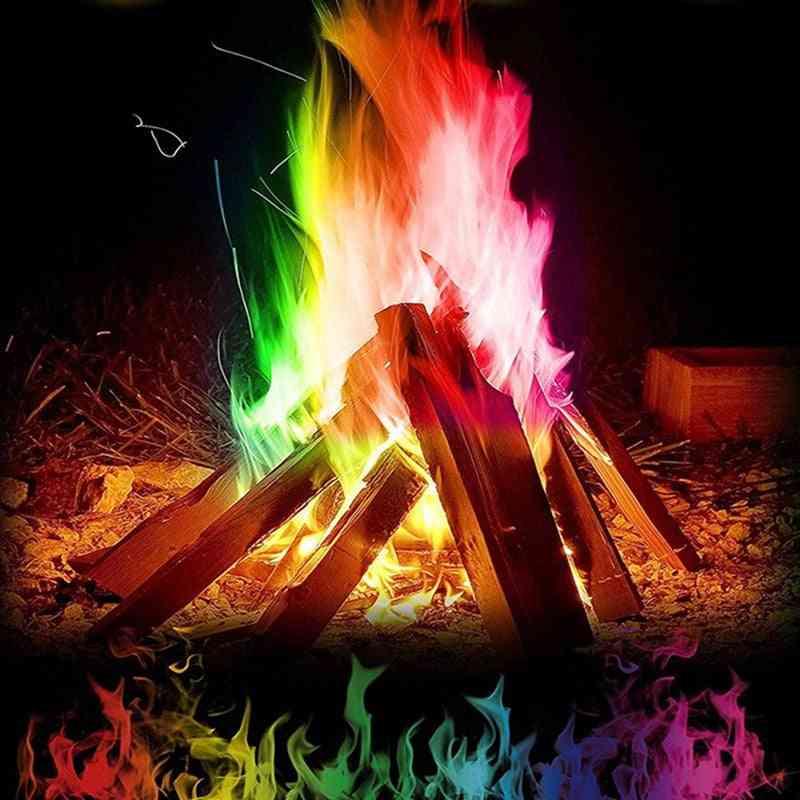 Magic Fire Tricks Colorful Flames, Powder Bonfire Sachet Classic Toy Survival