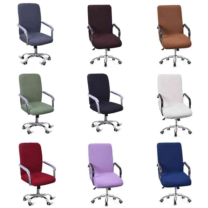 Modern Spandex Computer Chair Cover 100% Polyester Elastic Fabric Office Chair Cover