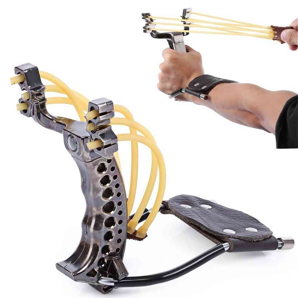 Outdoor Powerful Sling Shot, Folding Wrist, Adult Hunting Catapult, Marble Games