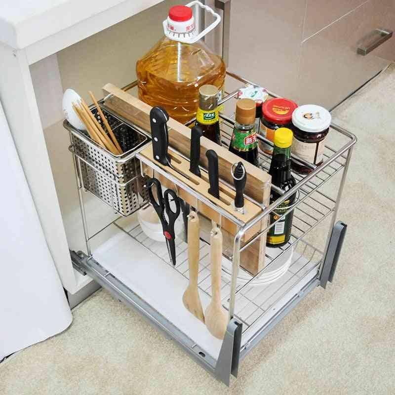 Shane Steel Kitchen Basket Cabinet Knife Rack Pull Flavoring Wholesale Rack