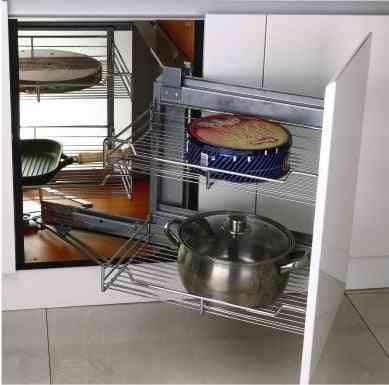 Little Basket Cabinet Basket Corner Storage Double-layer Basket
