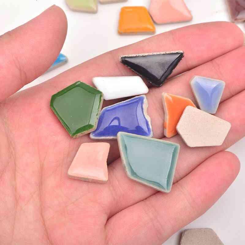 Mix Color Glass Regular Mosaic Stones Glass Pebbles Tile Sticker